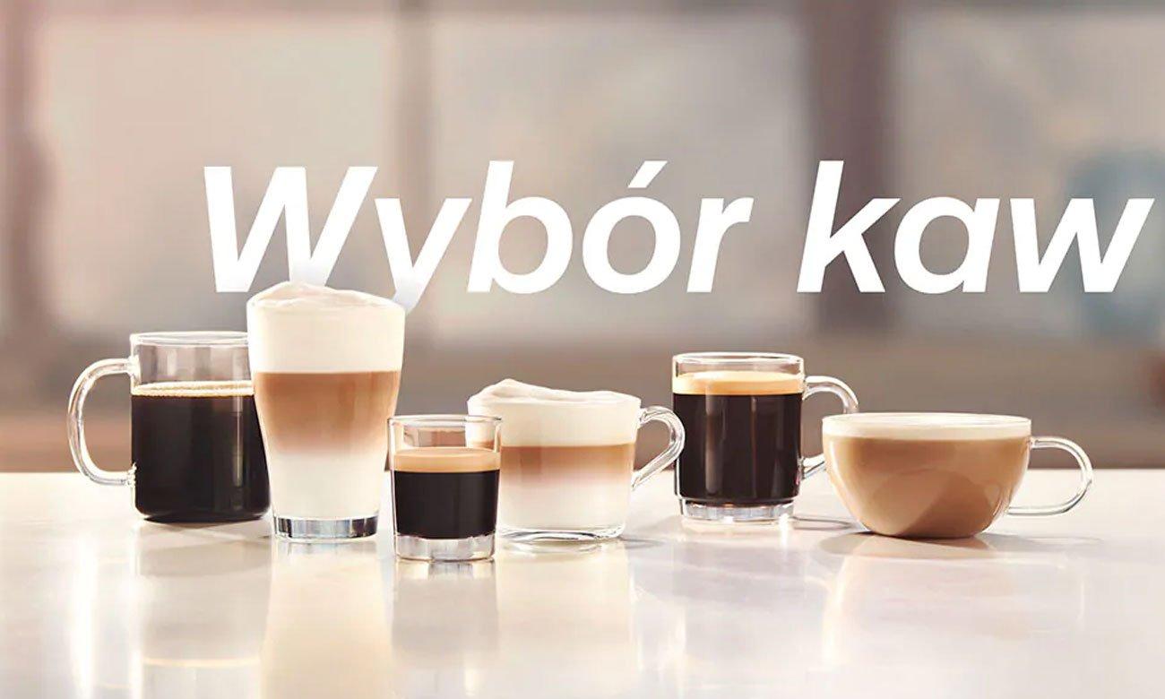 6 różnych rodzajów kawy w Philips EP5333/10