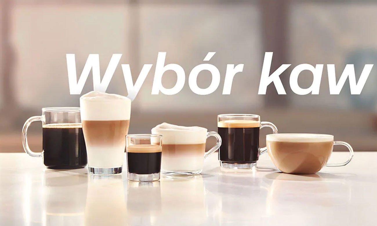 6 różnych rodzajów kawy w Philips EP5340/10