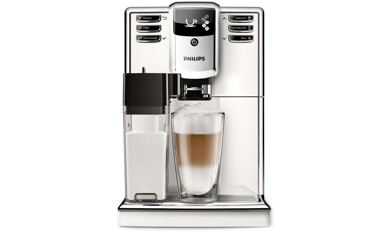 Ekspres do kawy Philips EP5361/10 ma wyjmowaną karafkę na mleko 0,5 l