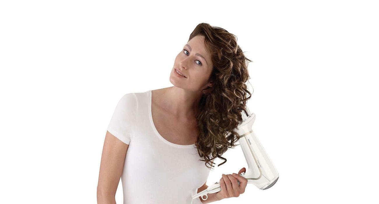 Suszarka do włosów Philips ThermoProtect HP 8232/00 Ionic biała innowacyjne technologie thermo protect
