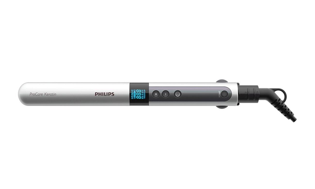Prostownica Philips ProCare Keratin HP 8361/00 ustawienie temperatury