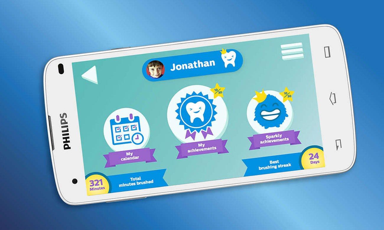 Aplikacja dla szczoteczki sonicznej Philips Sonicare HX6321/04 For Kids