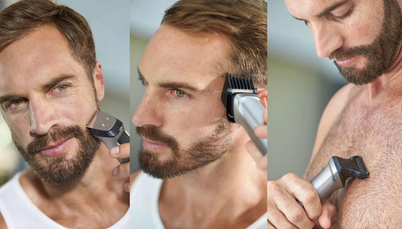 16 nasadek do twarzy ciała i włosów z trymerem Philips MG7730/15