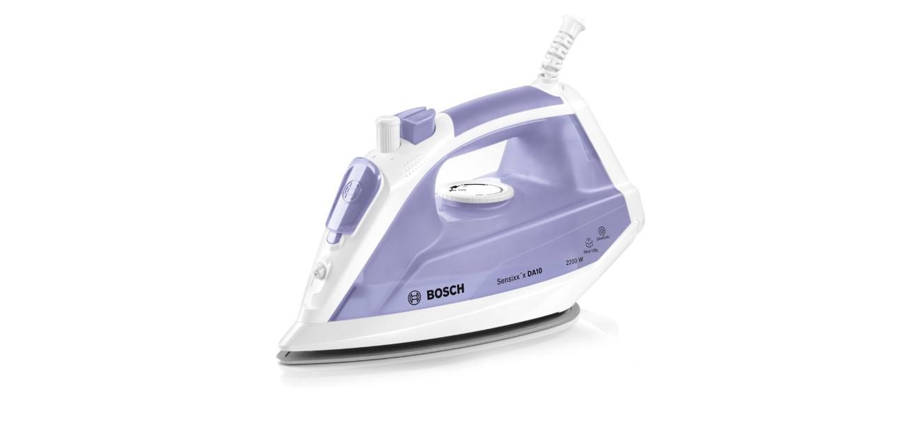 Żelazko parowe Bosch Sensixx'x DA10 2200W biało-liliowe