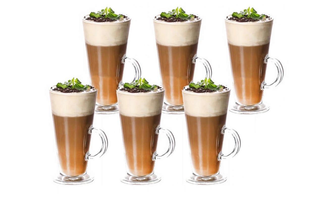 PLM Zestaw 6 szklanek do latte 250 ml