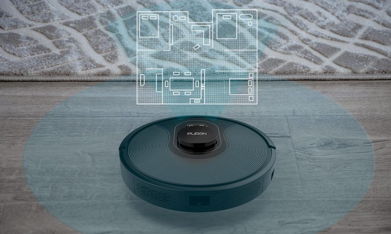 Robot sprzątający Puron PR10 ma laserowe skanowanie 360 stopni