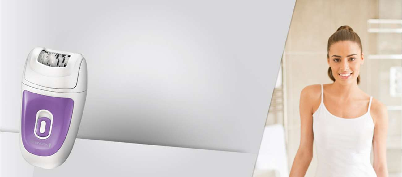 depilator z najnowszymi technologiami Remington Smooth & Silky EP7010 biało-fioletowy pęsetowy