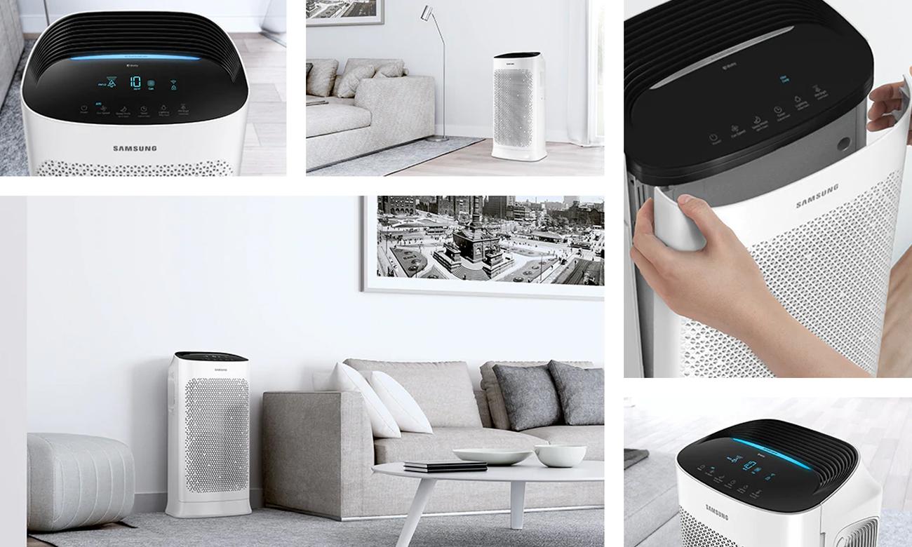 Oczyszczacz powietrza z laserowym czujnikiem jakości powietrza Samsung AX60R5080WD