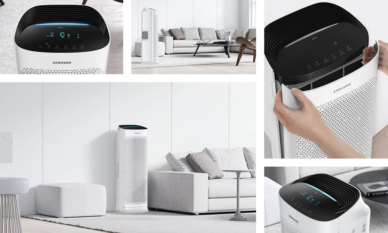 Oczyszczacz powietrza z laserowym czujnikiem jakości powietrza Samsung AX90R7080WD
