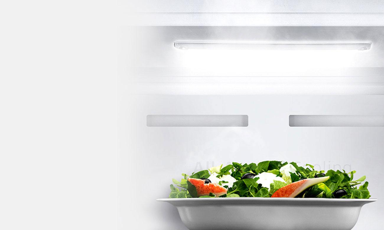 Wydajne oświetlenie LED w lodówce Samsung BRB260010WW