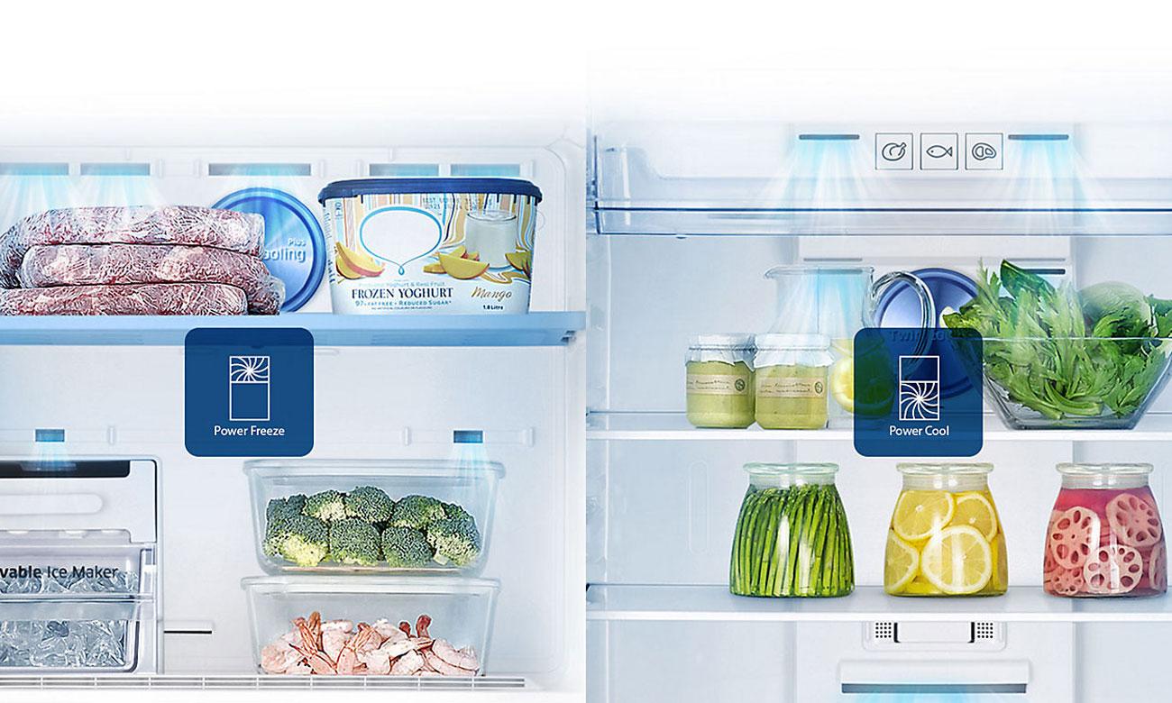 Szybkie mrożenie i zamrażanie w lodówce Samsung BRB260034WW
