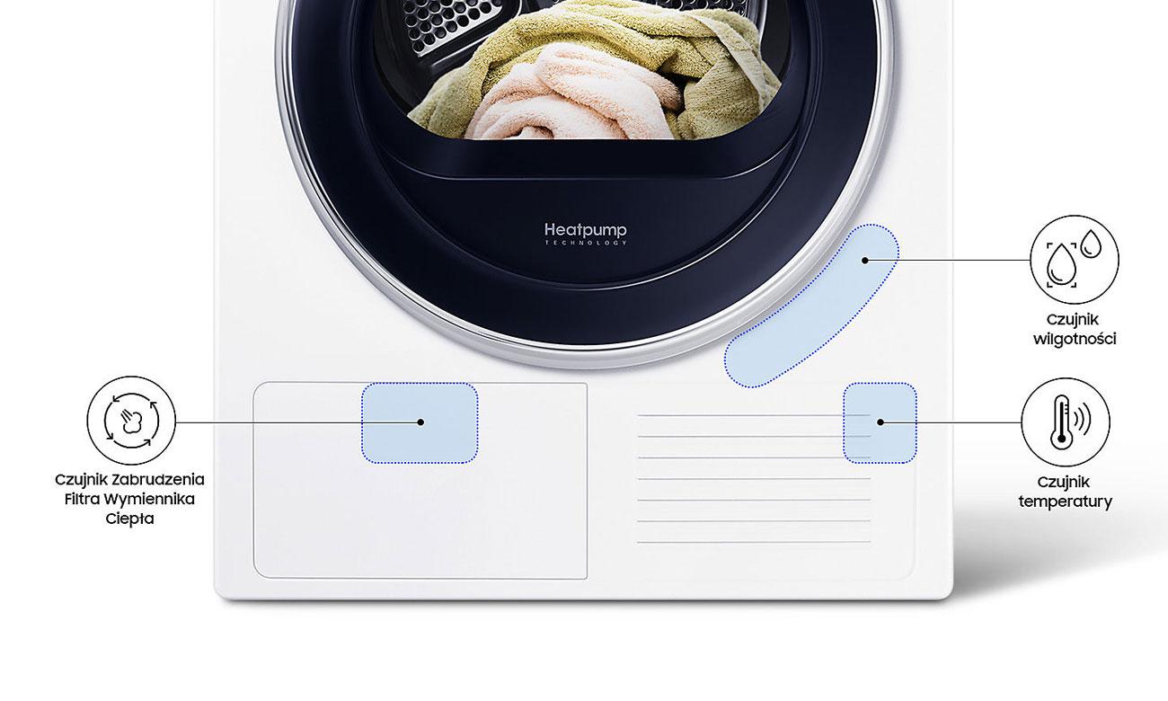 Lepsze rezultaty suszenia, dzięki technologii OptimalDry w suszarce do ubrań Samsung DV90M52003W