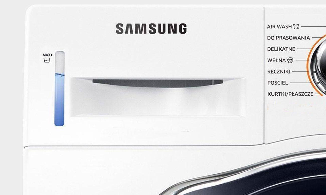 Kontrola poziomu wody, dzięki zbiornikowi na wodę w suszarce do ubrań Samsung DV90M52003W