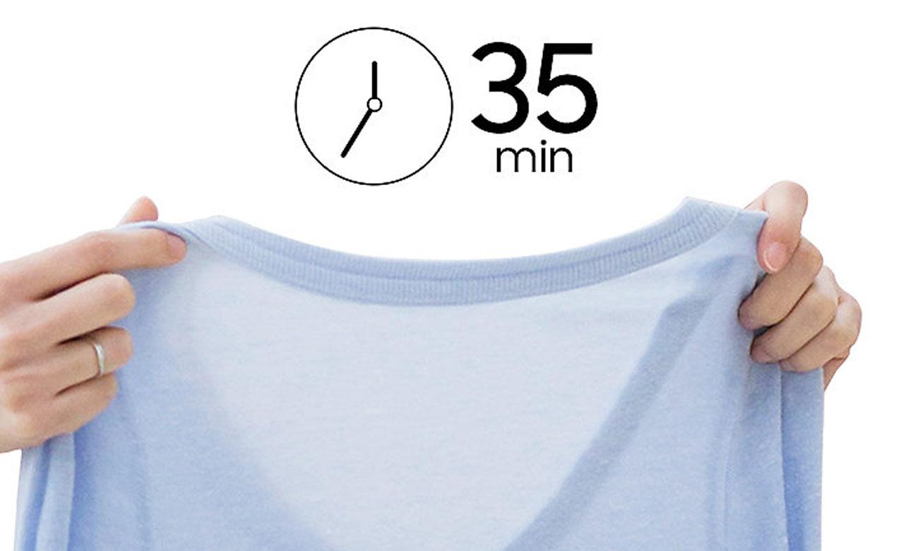 Ubrania suche w 35 min, dzięki programowi do szybkiemu suszeniu w suszarce do ubrań Samsung DV90M52003W