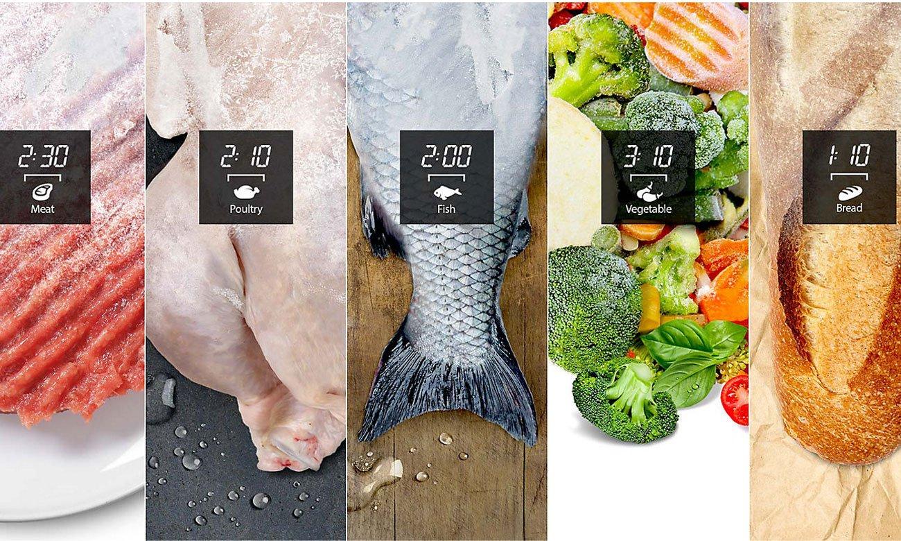 Szybkie rozmrażanie w kuchence mikrofalowej Amica MG23K3515AK