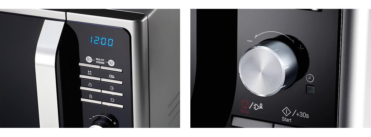 Kuchenka mikrofalowa Samsung MS23F301TAS inox elektroniczne sterowanie wyświetlacz