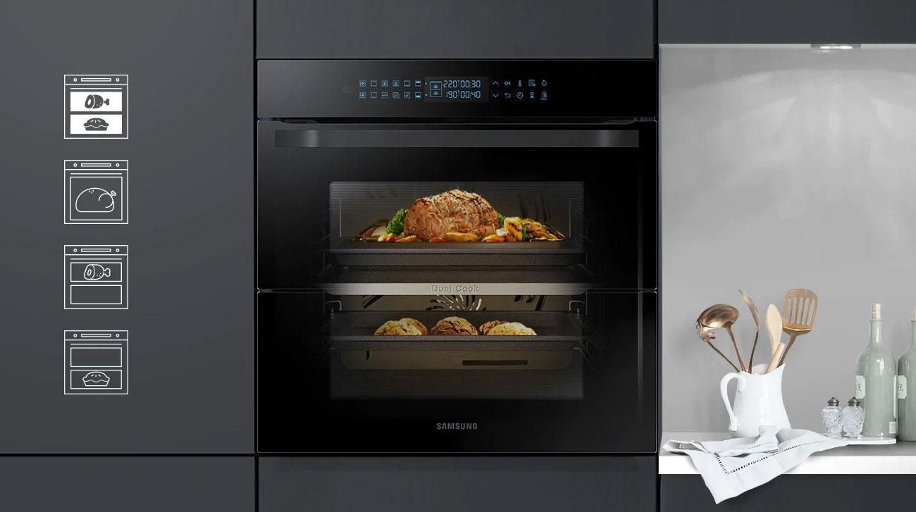 przygotuj dwie potrawy jednocześnie w Samsung NV75N7626RB