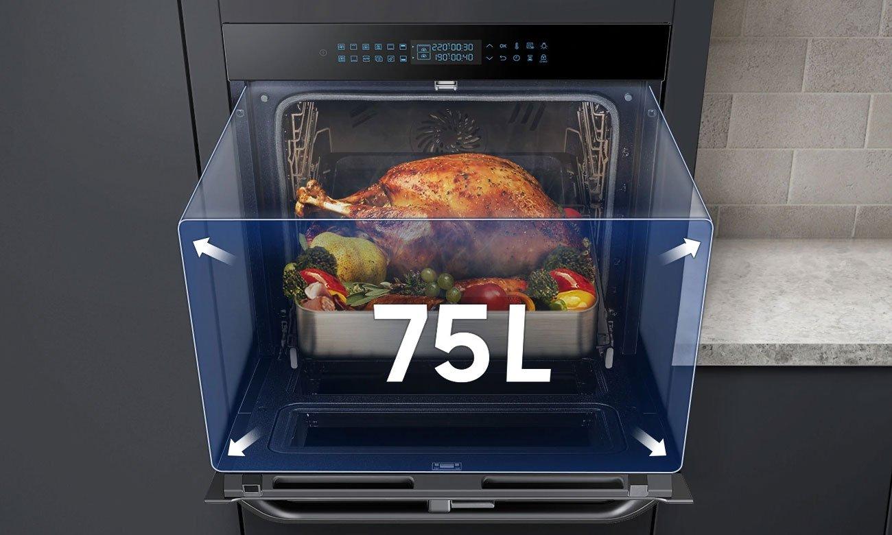 Duża pojemność piekarnika Samsung NV75N7626RB