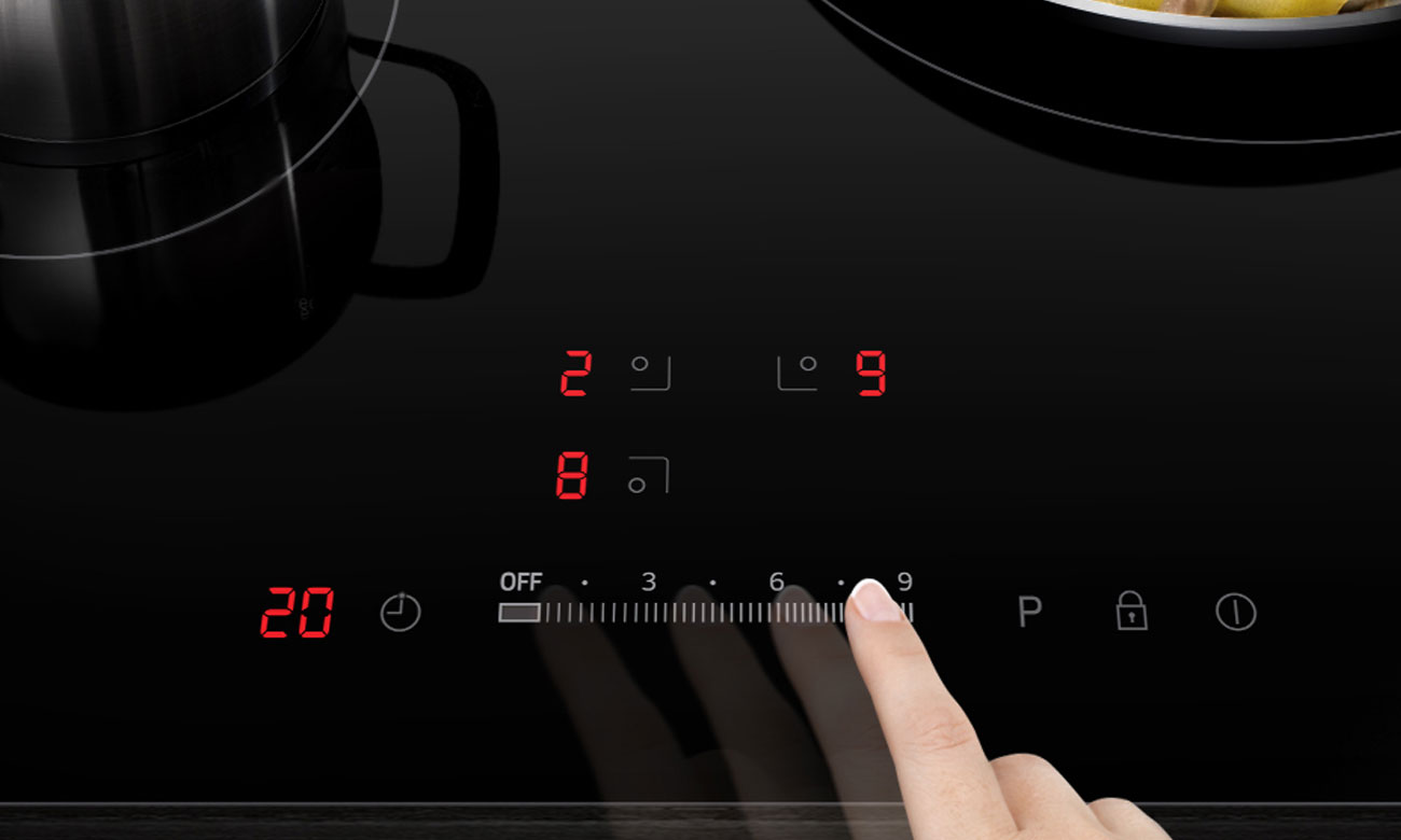 Stopniowa kontrola w płycie Samsung NZ64H57477K