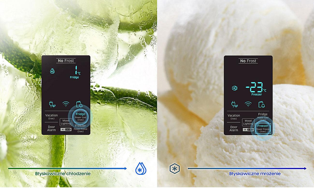 Szybkie chłodzenie i mrożenie w lodówce Samsung RB34K6232SS