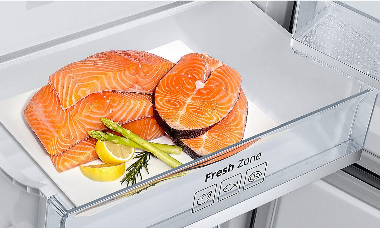 Szuflada Fresh Zone w lodówce Samsung RB36J8855S4