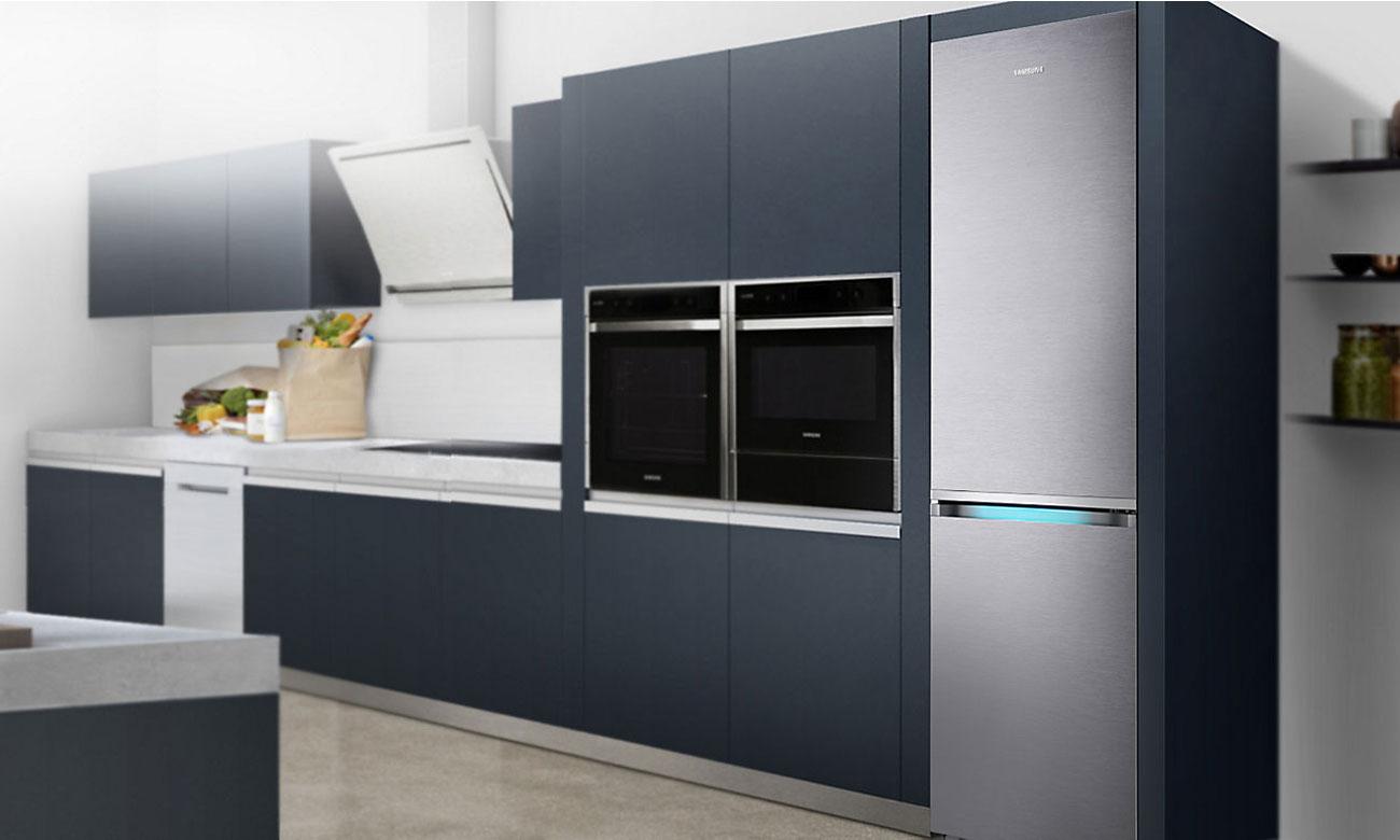 Wzornictwo Kitchen Fit w lodówce Samsung RB36J8855S4