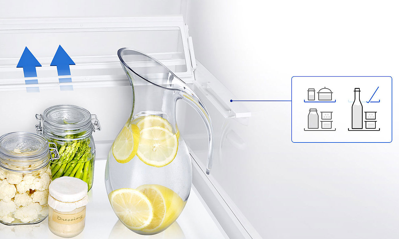 Wykorzystaj przestrzeń na składowanie butelek w lodówce Samsung RB36J8855S4