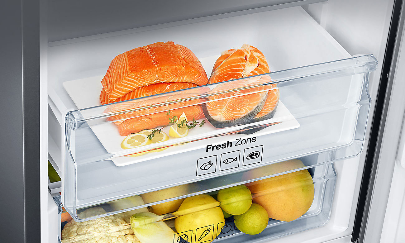 Świeże produkty spożywcze, dzięki technologii Fresh Zone w lodówce Samsung RB37K63602C