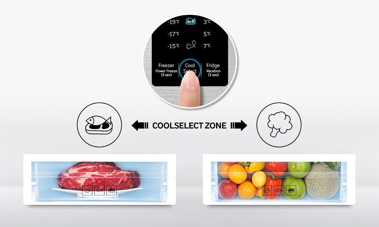 Szuflada CoolSelect Zone w lodówce Samsung RS51K54F02C