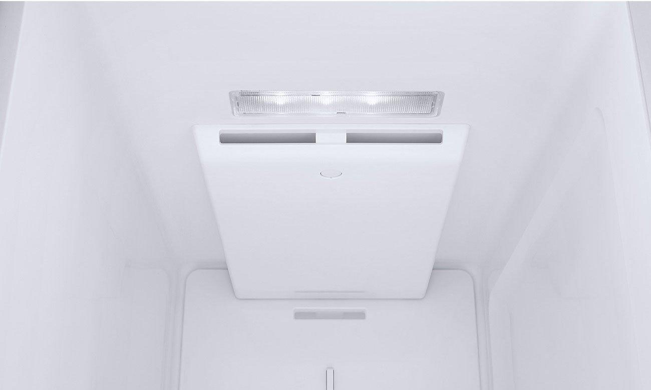 Wydajne oświetlenie LED w lodówce Samsung RS51K57H02C