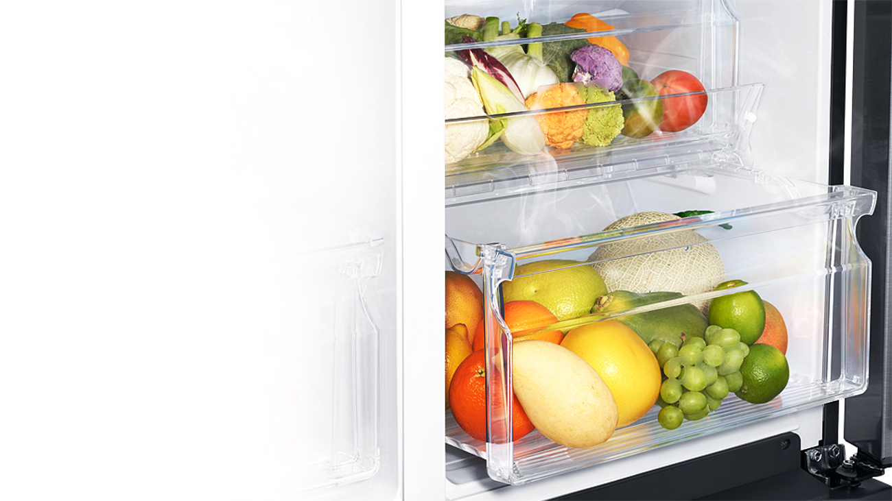 Samsung RS51K57H02C posiada szufladę na warzywa i owoce