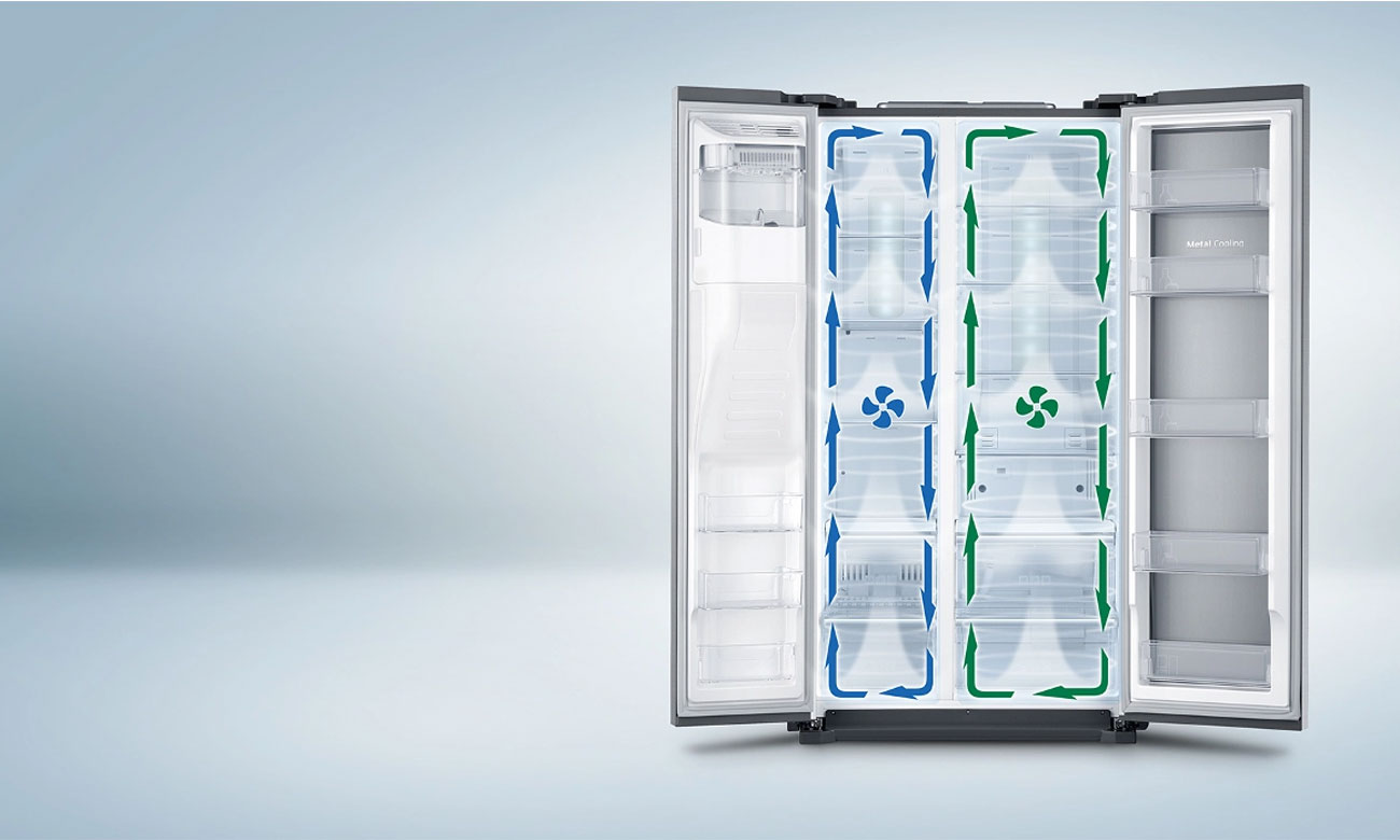 Świeże produkty spożywcze, dzięki systemowi Twin Cooling Plus w lodówce Samsung RS7528THCSP