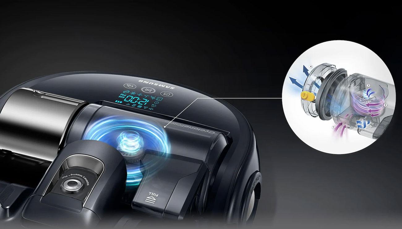 Robot sprzątający Samsung VR20K9350WK wyposażony w technologię CycloneForce