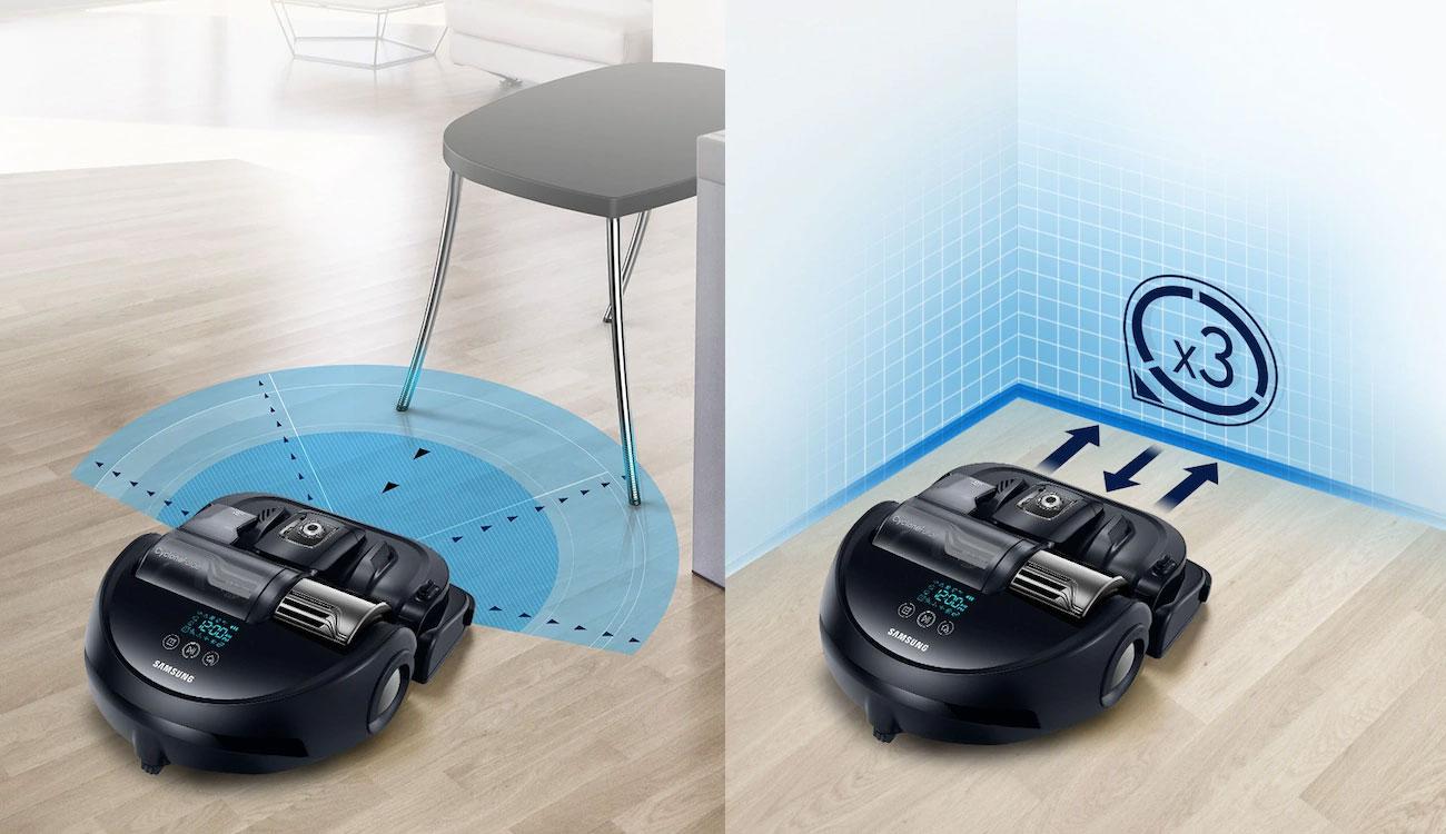 Robot sprzątający Samsung VR20K9350WK ma czujnik o wysokiej wydajności