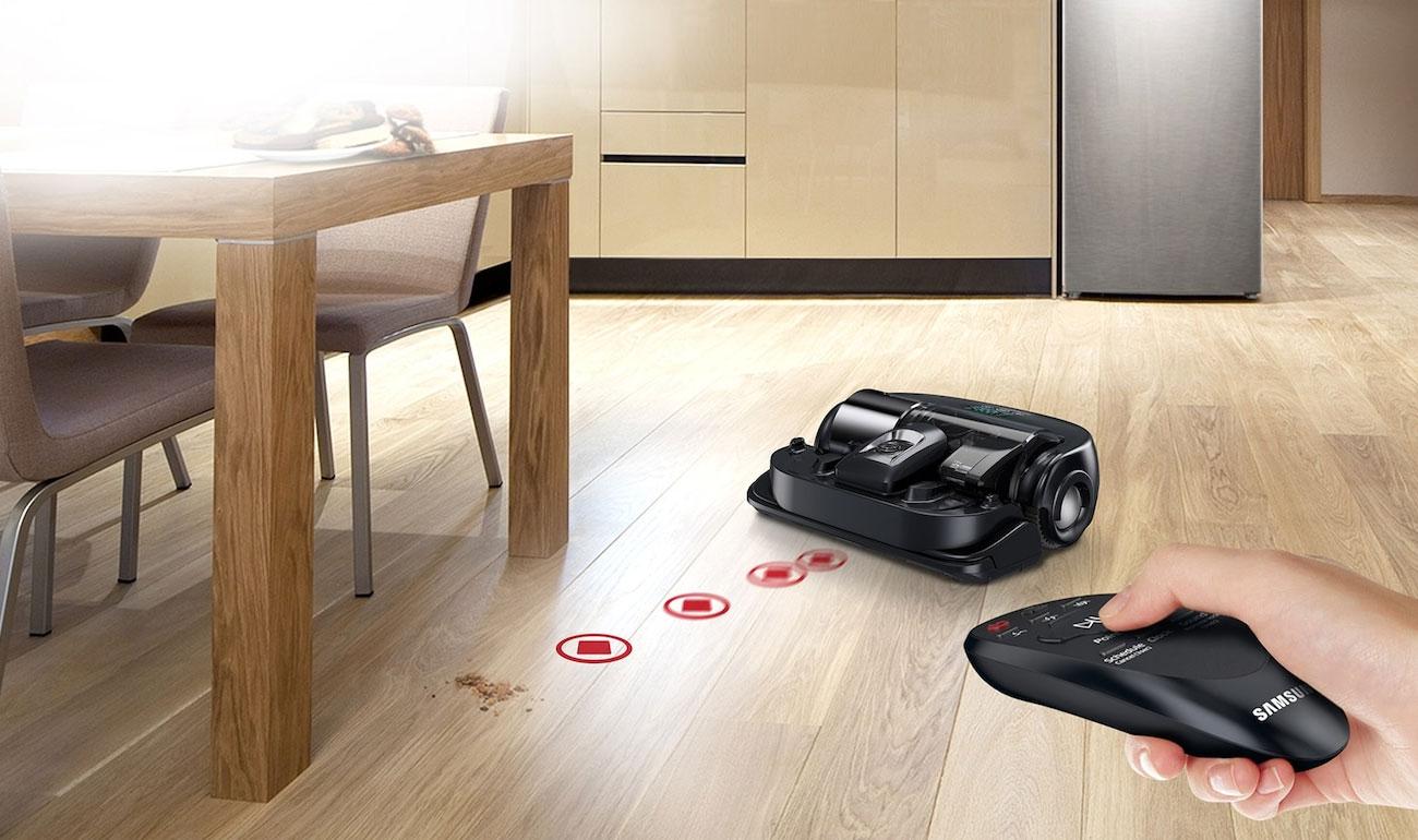 Robot sprzątający Samsung VR20K9350WK ma różne tryby pracy