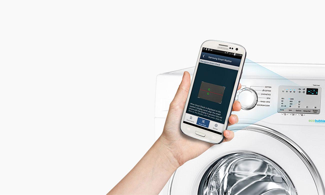 System Smart Check w pralko-suszarce Samsung WD70J5410AW