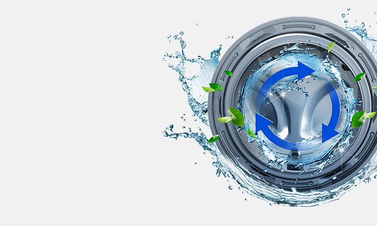 Eko czyszczenie bębna w pralko-suszarce Samsung WD70J5410AW