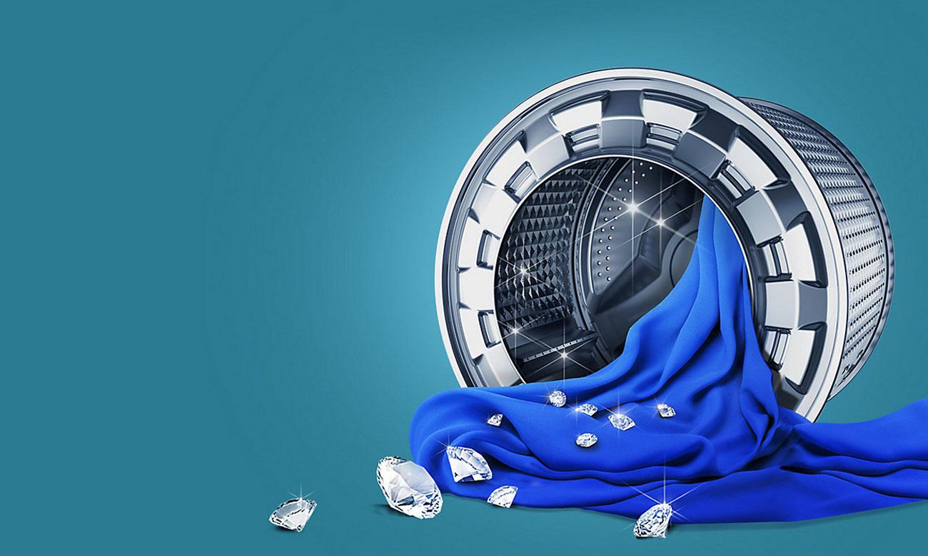 Bęben Diamond Drum w pralce Samsung WD80J6410AX