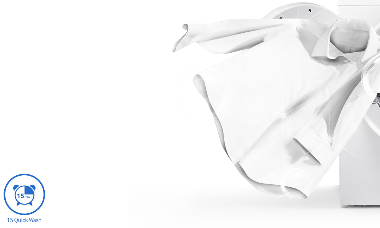 Program do szybkiego prania w pralce Samsung WD80J6410AX