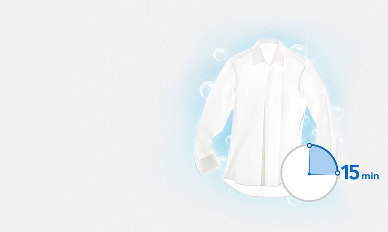 Program do szybkiego prania w pralko-suszarce Samsung WD90J6A10AX