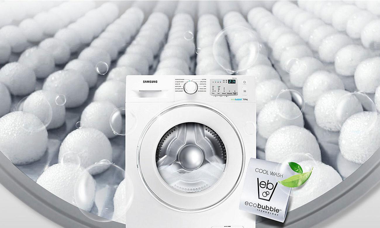 Skuteczne pranie, dzięki technologii EcoBubble w pralce Samsung WF60F4EEW2W