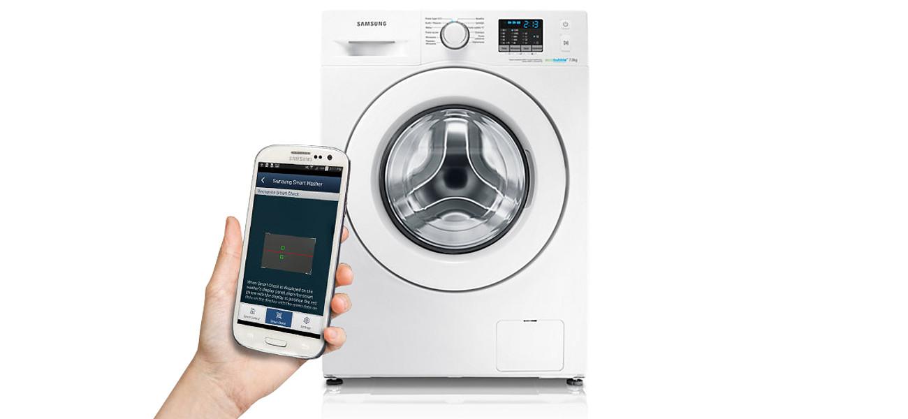 diagnostyka Samsung WF70F5E0W2WEO za pomoca smartphone'a