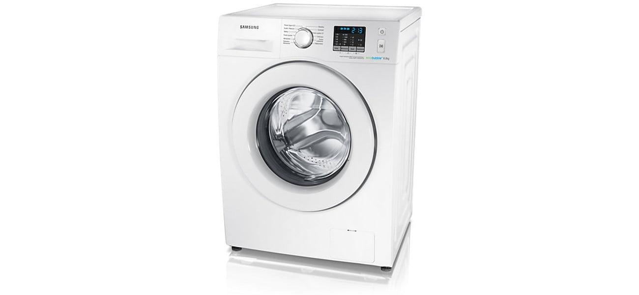 Eleganckie wykończenie pralki Samsung WF80FSE0W2W