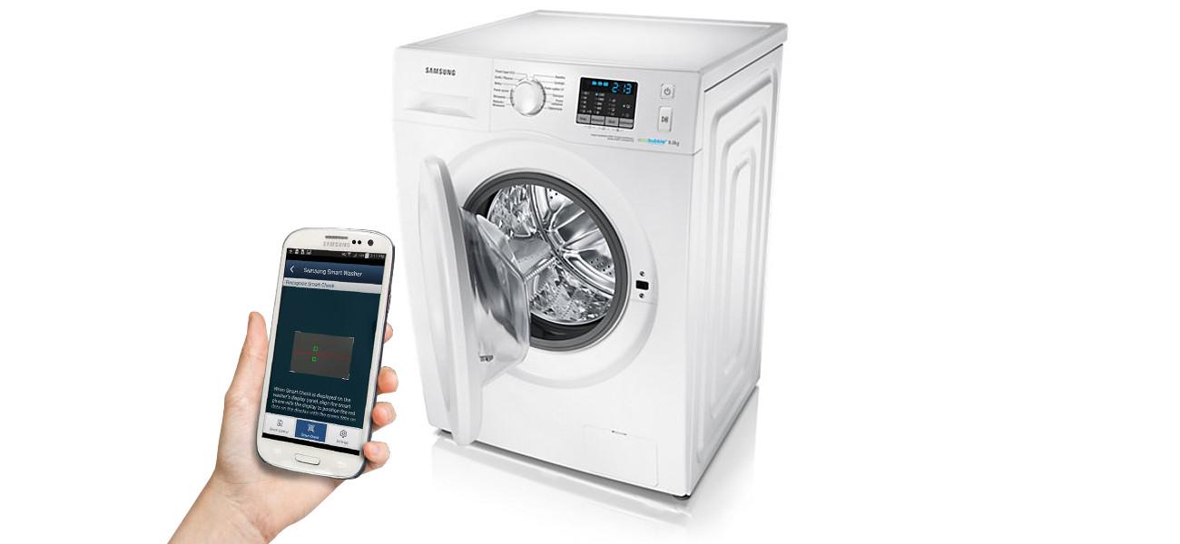 diagnostyka Samsung WF80FSE0W2W za pomoca smartphone'a