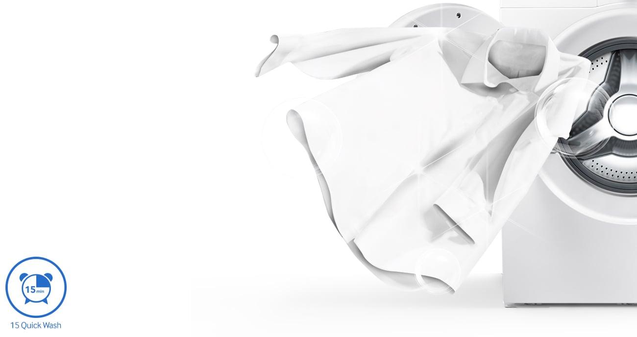 program szybkiego prania w pralce Samsung WF80FSE0W2W
