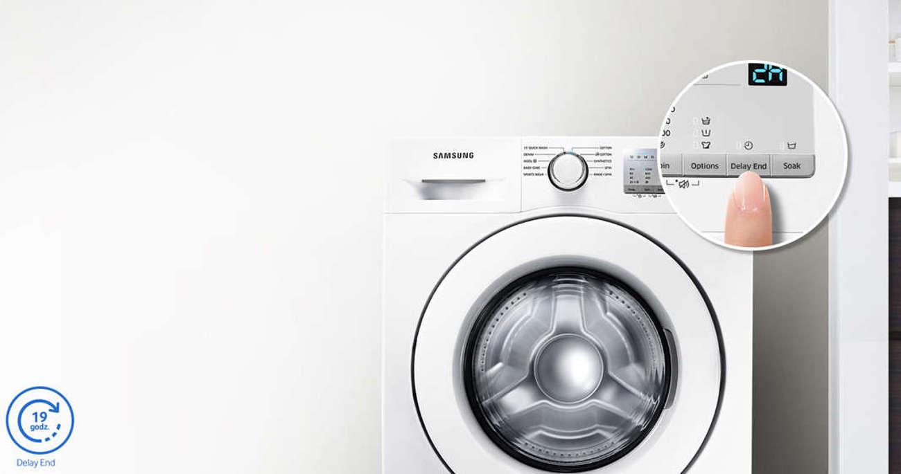 Samsung WW60J3283LW umożliwia ustawienie czasu zakończenia prania