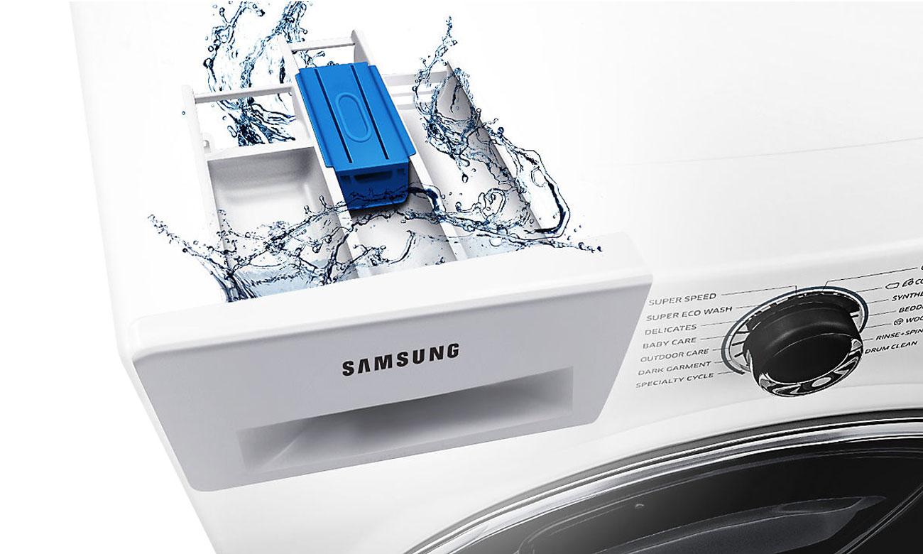 Samoczyszcząca się szuflada na detergent Stay Clean w pralce Samsung WW70J5346FW