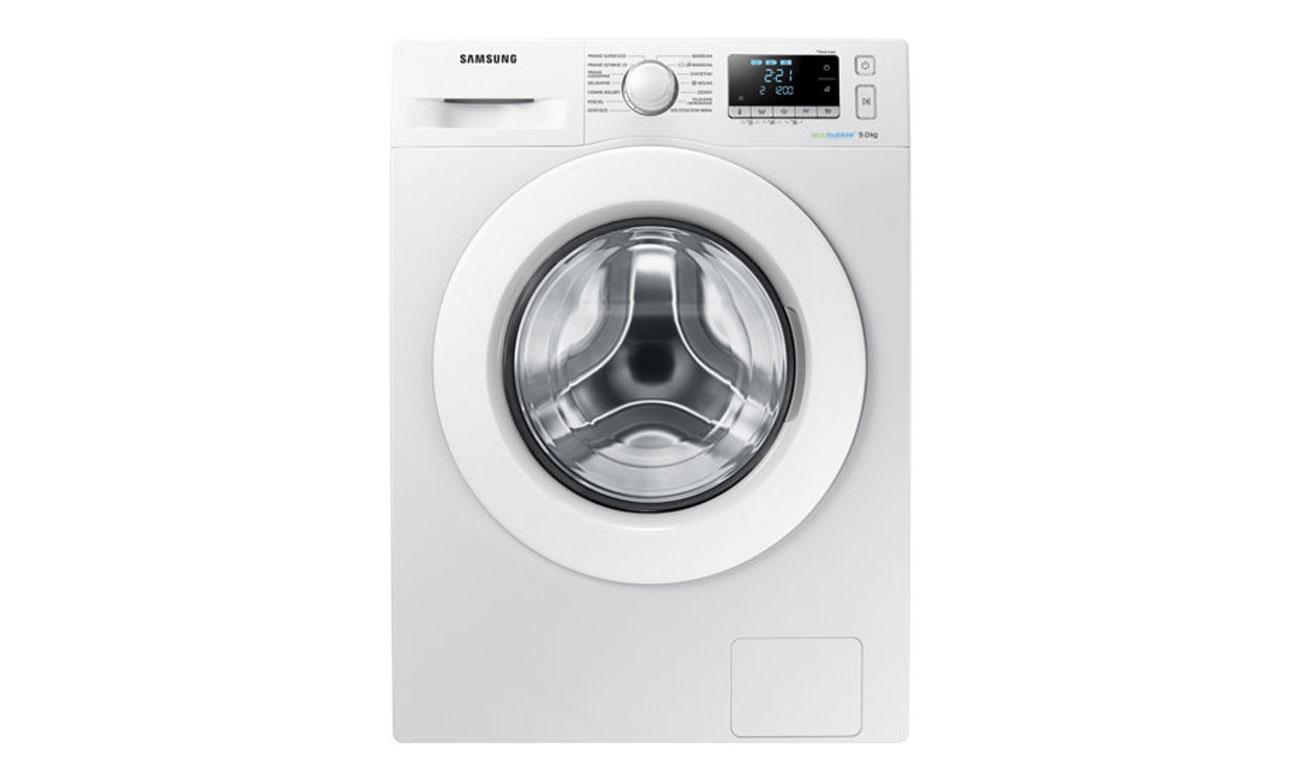 Estetyczne wykonanie Crystal Gloss w pralce Samsung WW90J5346MW
