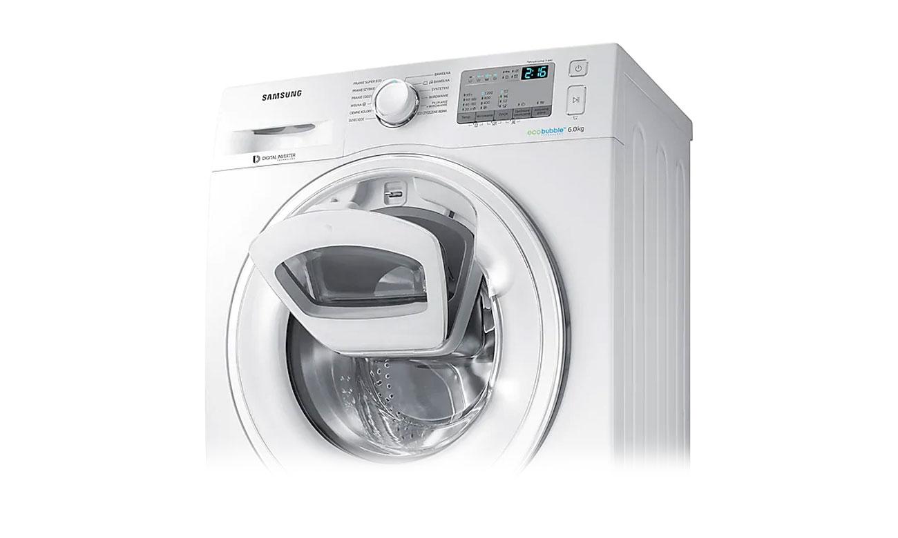 Funkcja dodatkowej piany Bubble Soak w pralce Samsung WW90J5346MW