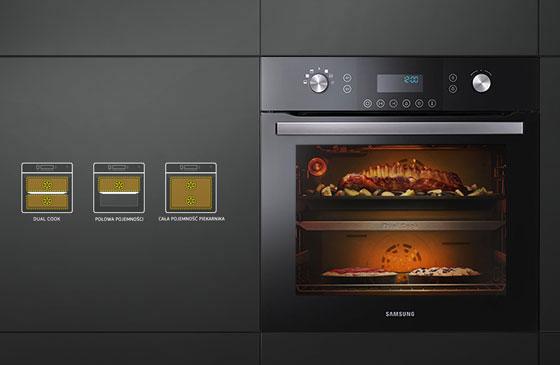 Piekarnik Dual Cook 65 litrów pojemności